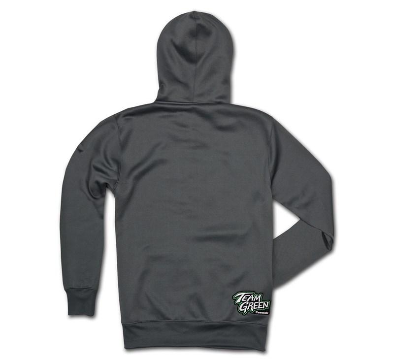 Team Green Zip-Front Hooded Sweatshirt detail photo 2