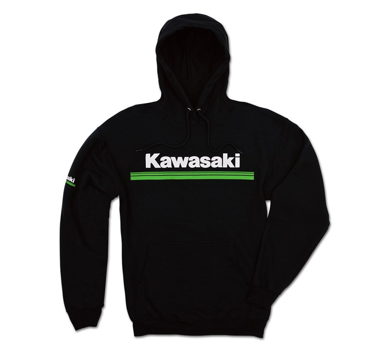 Kawasaki 3 Green Lines Hooded Sweatshirt detail photo 1