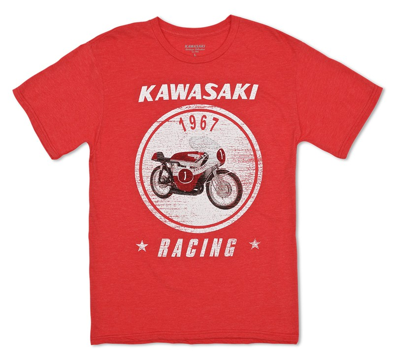 Kawasaki Heritage A7R T-shirt detail photo 1