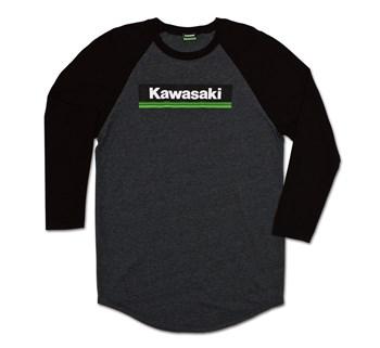 Kawasaki 3 Green Lines Raglan T-Shirt