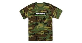Kawasaki 3 Green Lines Camo T-Shirt