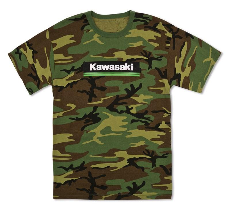 Kawasaki 3 Green Lines Camo T-Shirt detail photo 1