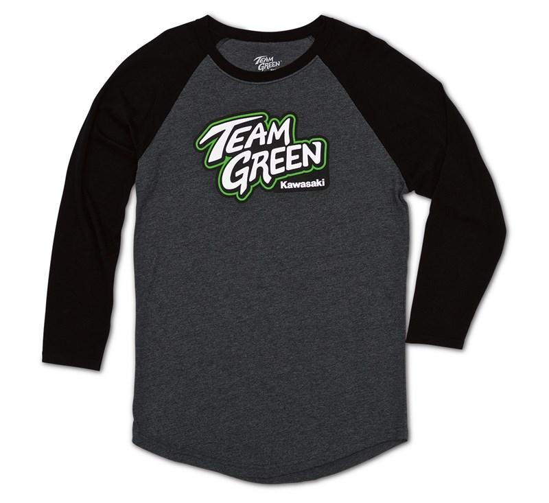 Team Green Raglan T-Shirt detail photo 1