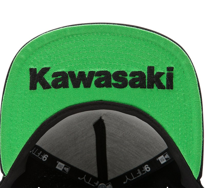 New Era© 9Fifty Kawasaki 3 Green Lines Cap detail photo 2