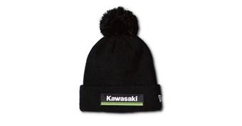 New Era© Kawasaki 3 Green Lines Pom Beanie
