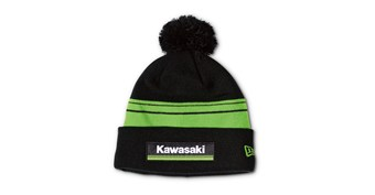 New Era© Kawasaki 3 Green Lines Striped Pom Beanie