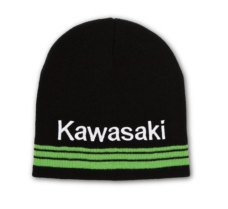 Kawasaki 3 Green Lines Basic Beanie detail photo 1