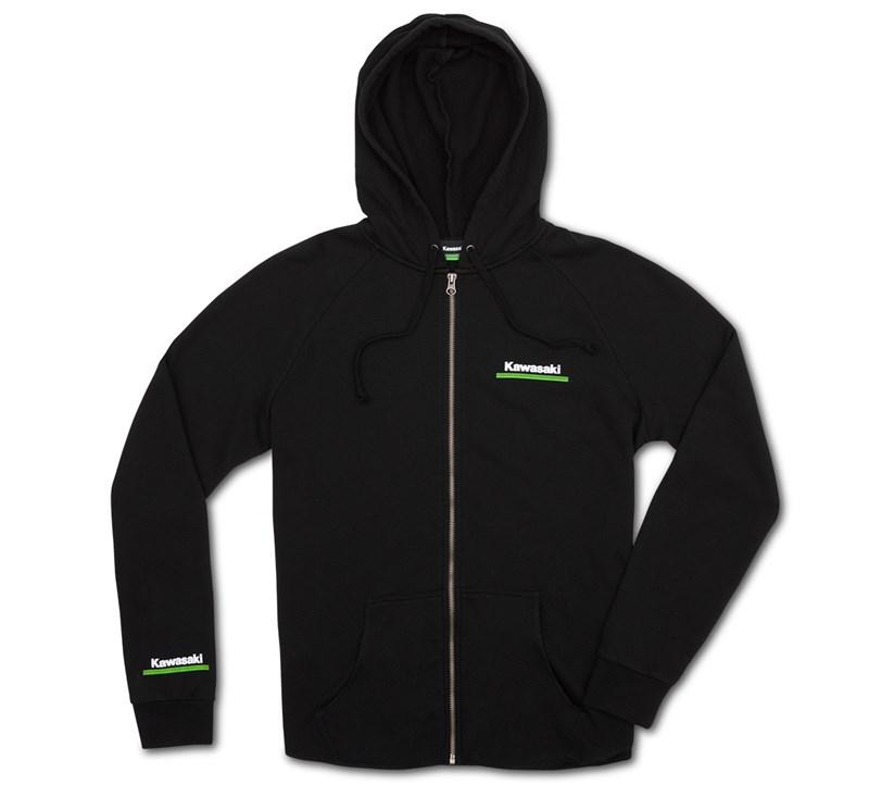 Women's Kawasaki 3 Green Lines Zip Up Sweatshirt detail photo 3