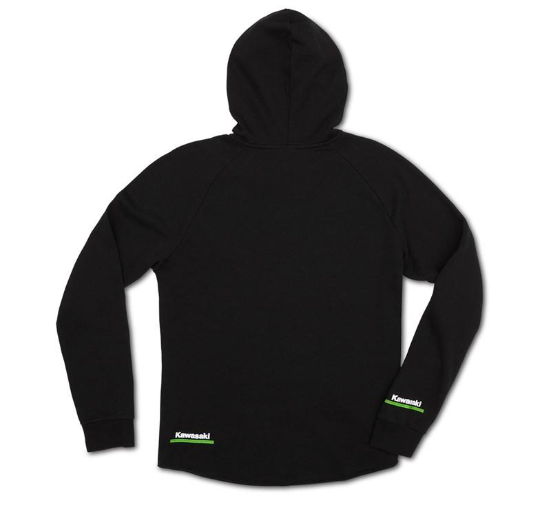 Women's Kawasaki 3 Green Lines Zip Up Sweatshirt detail photo 4