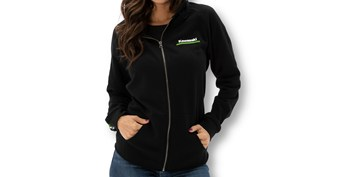 Women's Kawasaki 3 Green Lines Zip Up Sweatshirt