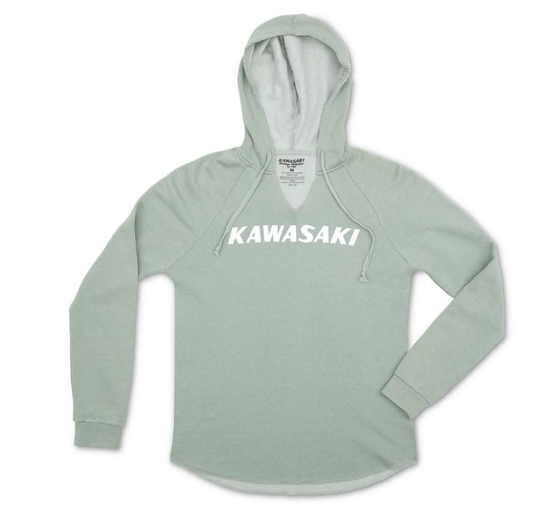 Women's Kawasaki Heritage Logo Hooded Sweatshirt detail photo 3