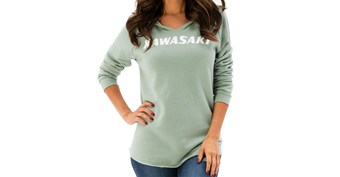 Women's Kawasaki Heritage Logo Hooded Sweatshirt