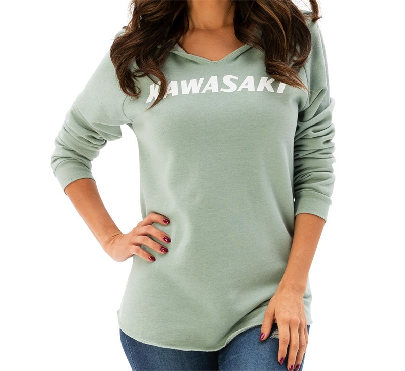 Women's Kawasaki Heritage Logo Hooded Sweatshirt detail photo 1