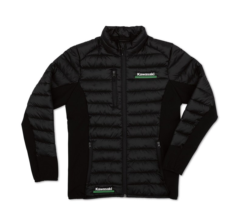 Women's Kawasaki 3 Green Lines Puff Jacket detail photo 1