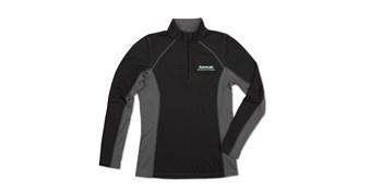 Women's Kawasaki 3 Green Lines Half Zip Pullover