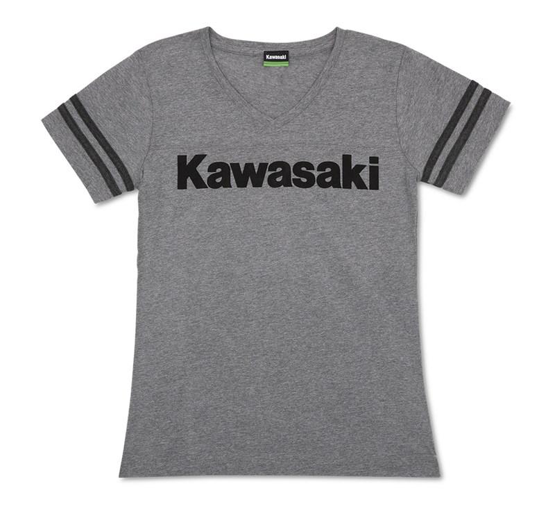 Women's Kawasaki Striped V-Neck Tee detail photo 4