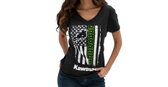 Women's Kawasaki Flag V-Neck Tee