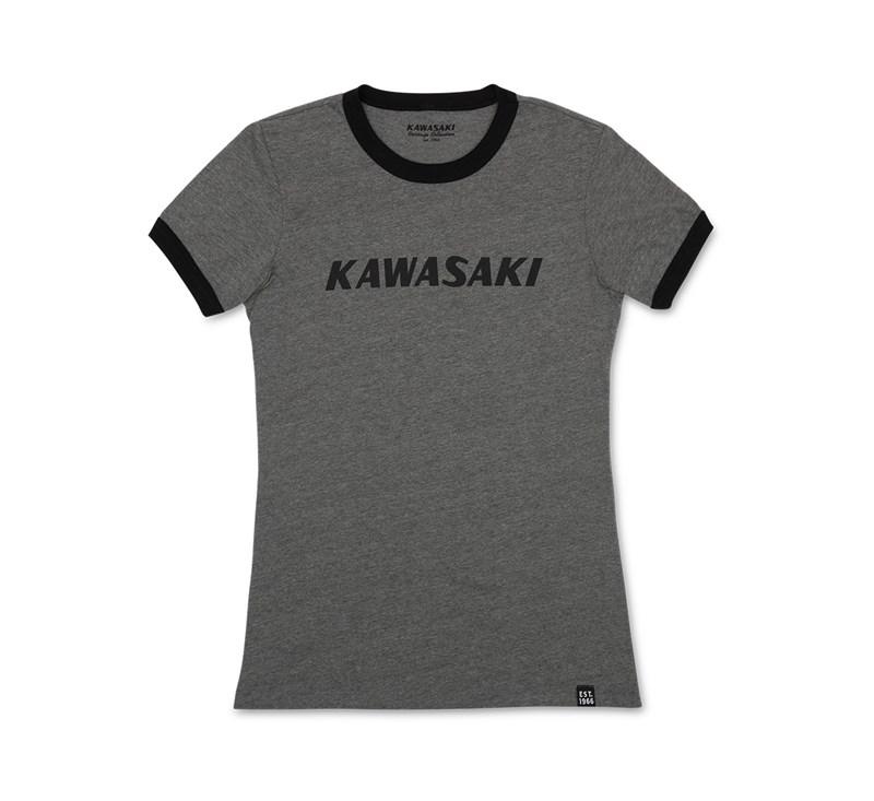 Women's Kawasaki Heritage Ringer Tee detail photo 3