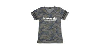 Women's Kawasaki Let the Good Times Roll® Vintage Camo Tee