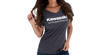 Women's Kawasaki Let the Good Times Roll® V-neck T-shirt