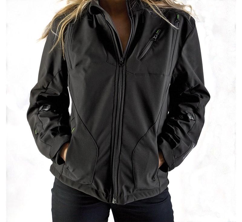 Women's Ratchet Softshell Jacket detail photo 1