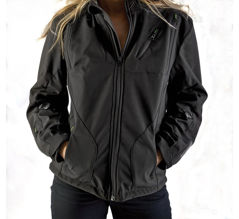 Women's Ratchet Softshell Jacket detail photo 1