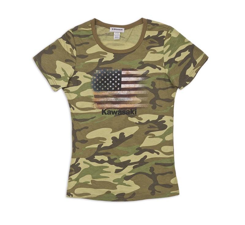 Women's Army Camo Flag Tee detail photo 3