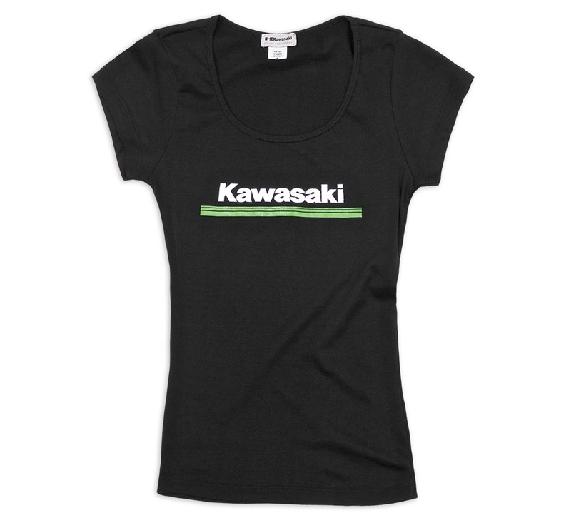 Women's Kawasaki 3 Green Lines Tee detail photo 1