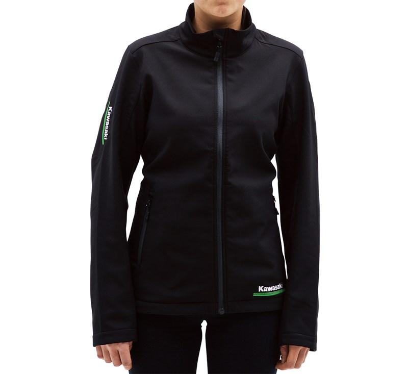 Women's Kawasaki 3 Green Lines Soft Shell Jacket detail photo 3