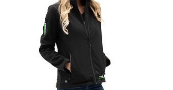 Women's Kawasaki 3 Green Lines Soft Shell Jacket