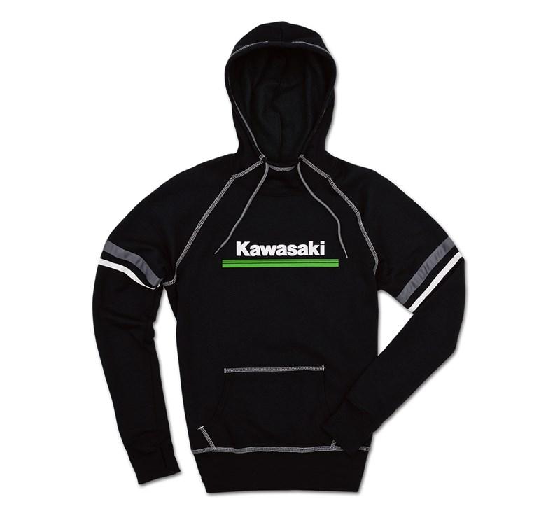 Women's Kawasaki 3 Green Lines Hooded Sweatshirt detail photo 2