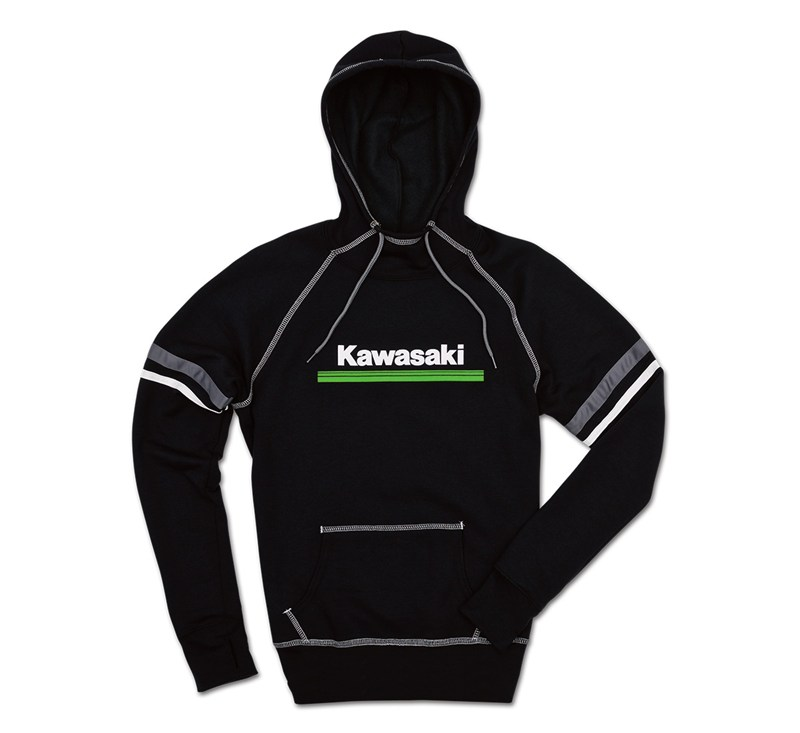 Women's Kawasaki 3 Green Lines Hooded Sweatshirt detail photo 2