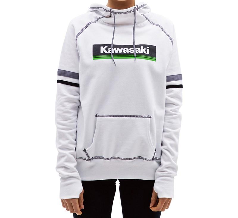 Women's Kawasaki 3 Green Lines Hooded Sweatshirt detail photo 1