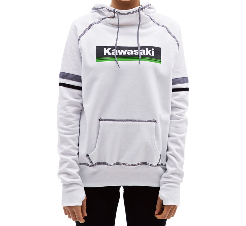 Women's Kawasaki 3 Green Lines Hooded Sweatshirt detail photo 1