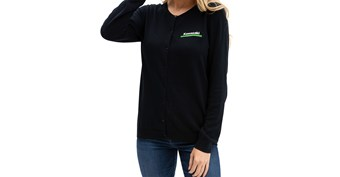 Women's Kawasaki 3 Green Lines Cardigan Sweater