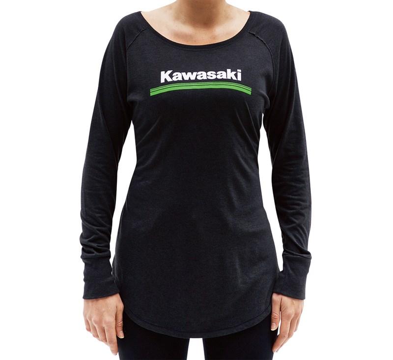 Women's Kawasaki 3 Green Lines Long Sleeve Tee detail photo 1