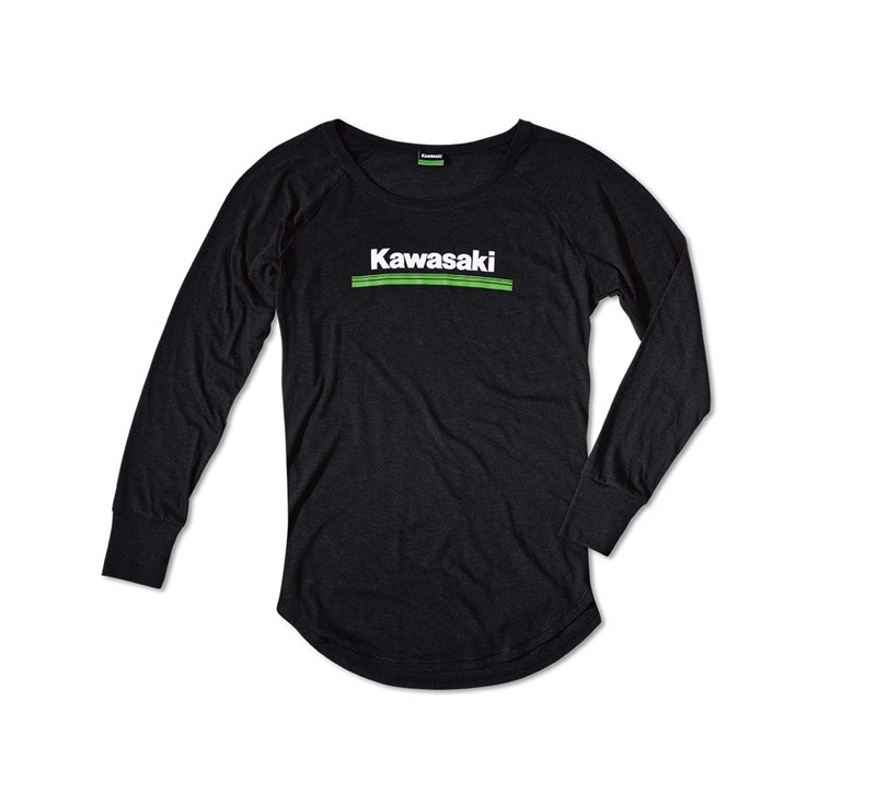Women's Kawasaki 3 Green Lines Long Sleeve Tee detail photo 2