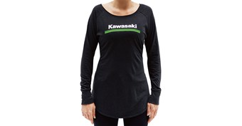 Women's Kawasaki 3 Green Lines Long Sleeve Tee