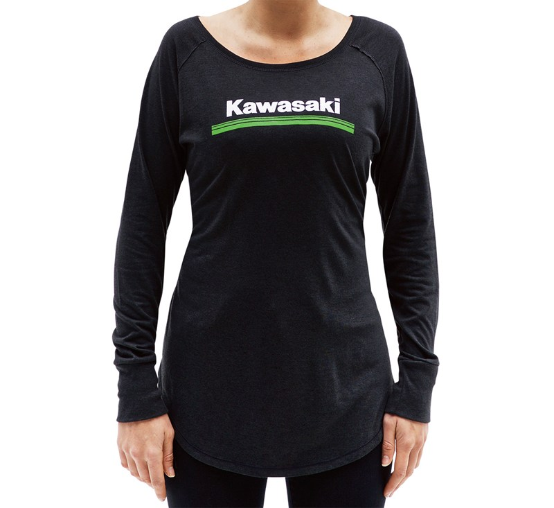 Women's Kawasaki 3 Green Lines Long Sleeve Tee detail photo 1