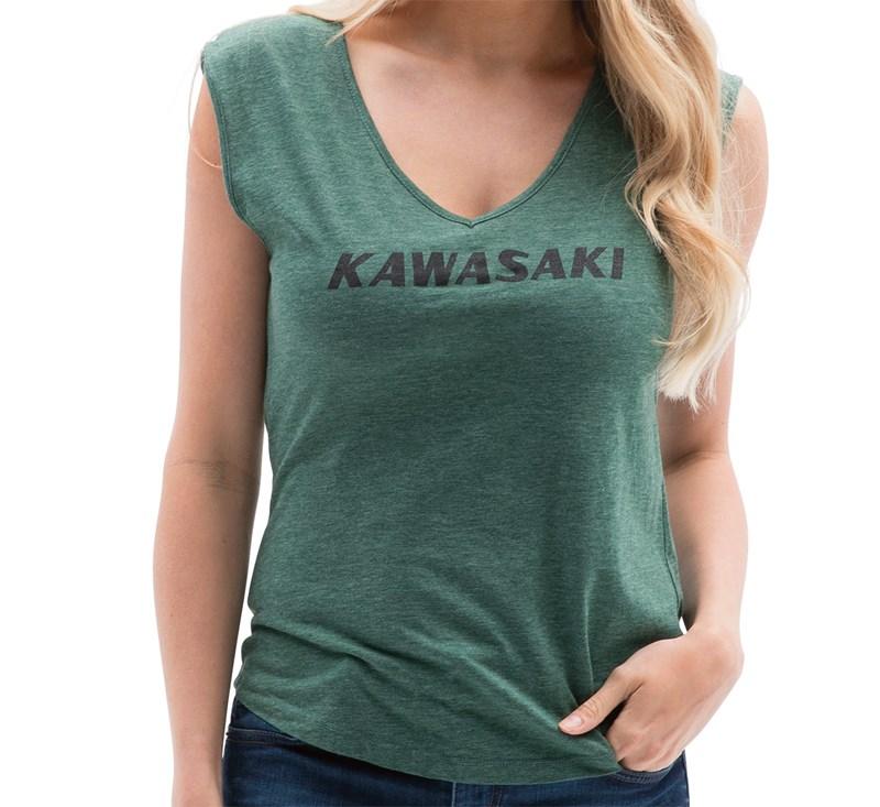 Women's Kawasaki Heritage Logo T-shirt detail photo 1