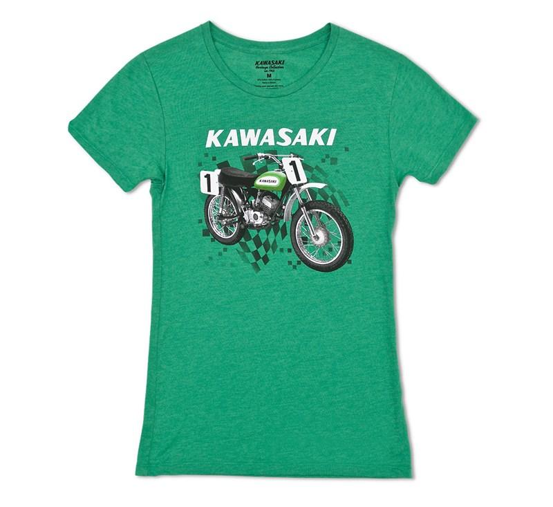 Women's Kawasaki Heritage Moto T-shirt detail photo 3