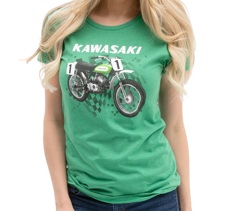 Women's Kawasaki Heritage Moto T-shirt detail photo 1