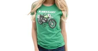 Women's Kawasaki Heritage Moto T-shirt