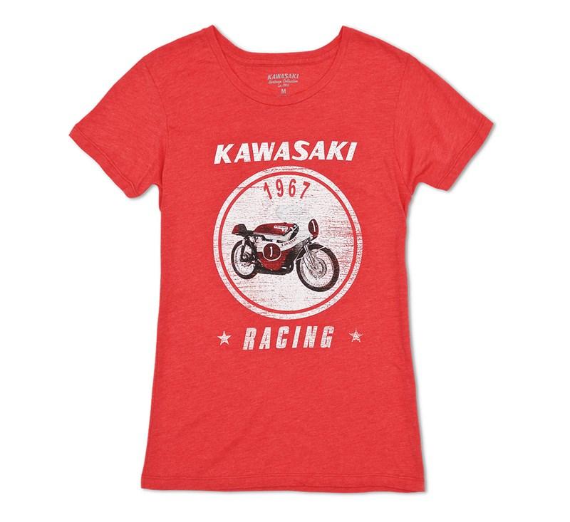 Women's Kawasaki Heritage A7R T-shirt detail photo 3