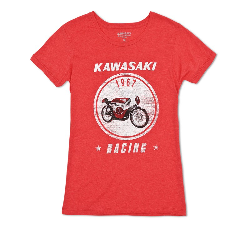 Women's Kawasaki Heritage A7R T-shirt detail photo 3