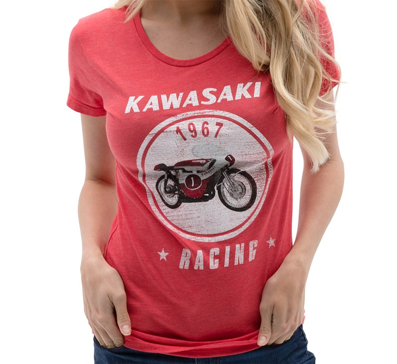 Women's Kawasaki Heritage A7R T-shirt detail photo 1