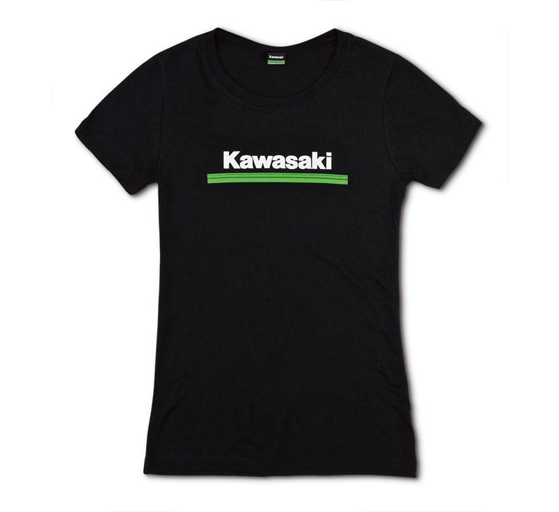 Women's Kawasaki 3 Green Lines Crew Tee detail photo 3