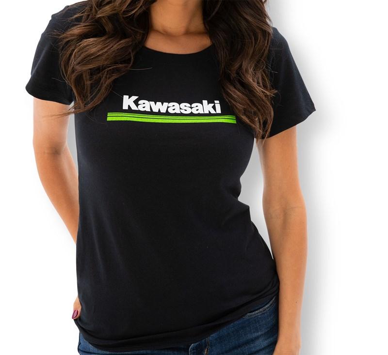 Women's Kawasaki 3 Green Lines Crew Tee detail photo 1