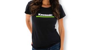 Women's Kawasaki 3 Green Lines Crew Tee