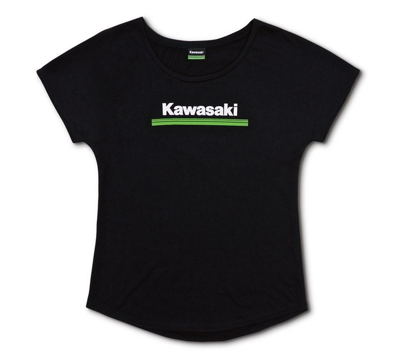 Women's Kawasaki 3 Green Lines Dolman Tee detail photo 3